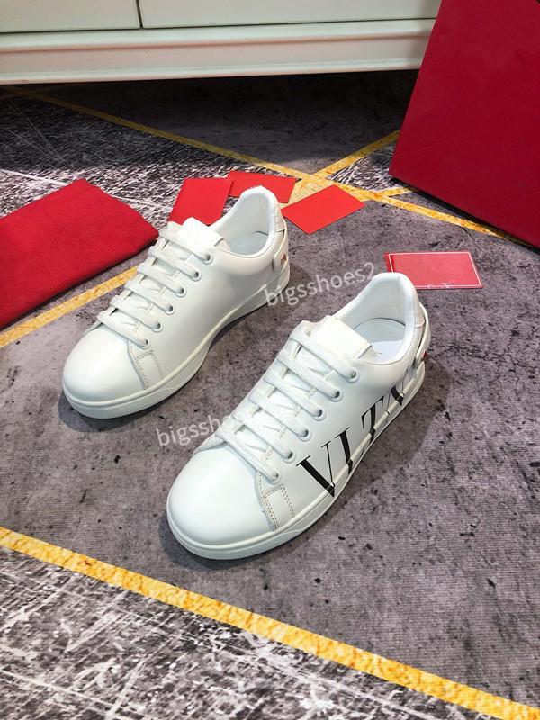 Valentino shoes Tasarımcı Erkek moda lüks Trainer erkekler kadınlar Casual ayakkabılar rahat Zapatos spor ayakkabısı yeni varış Casual mokasen ayakkabı yh190916 daireden