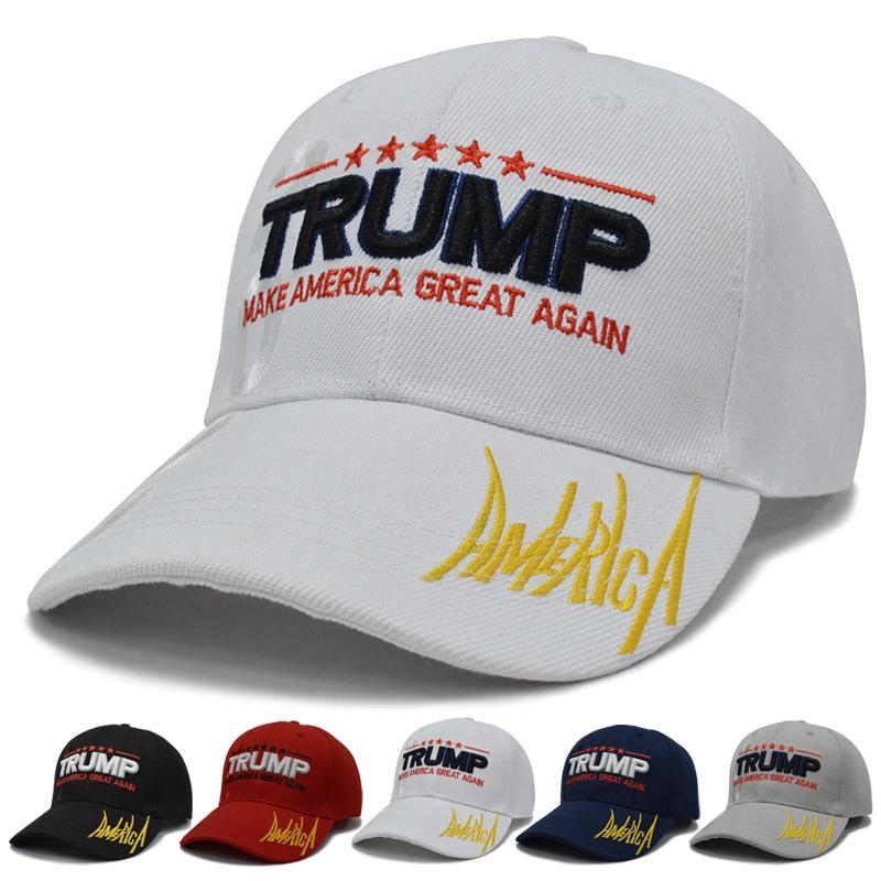 Boné de beisebol Trump 15styles Keep America Great Again Caps 2020 Campaign EUA 45 American Flag Hat Canvas bordado chapéus do partido GGA3611-6