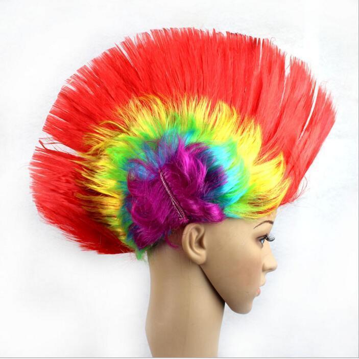 Декорации для вечеринок Женщины Мужчины Mohawk Синтетические волосы Мода могикан прическа костюм косплей парики Punk для Хэллоуина Рождество Бесплатная доставка