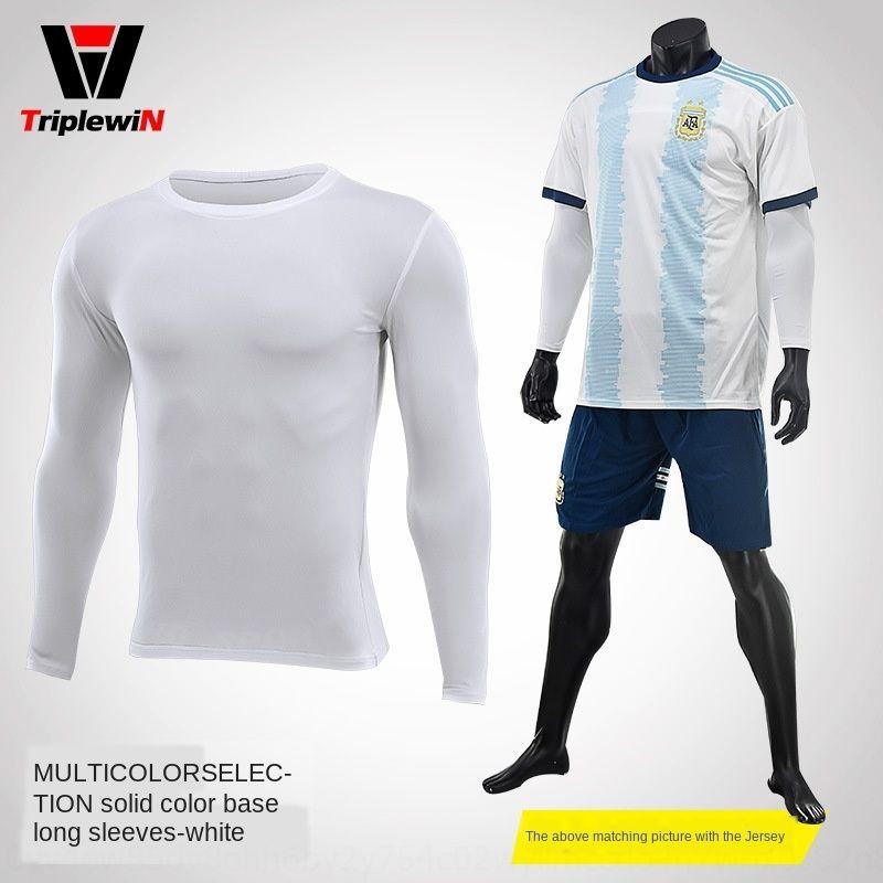 Base h0Nrc elastica ad asciugatura rapida di calcio di pallacanestro di sport di protezione solare caldo della fodera manica lunga gli uomini della T-shirt collant esercizio esercizio fitn