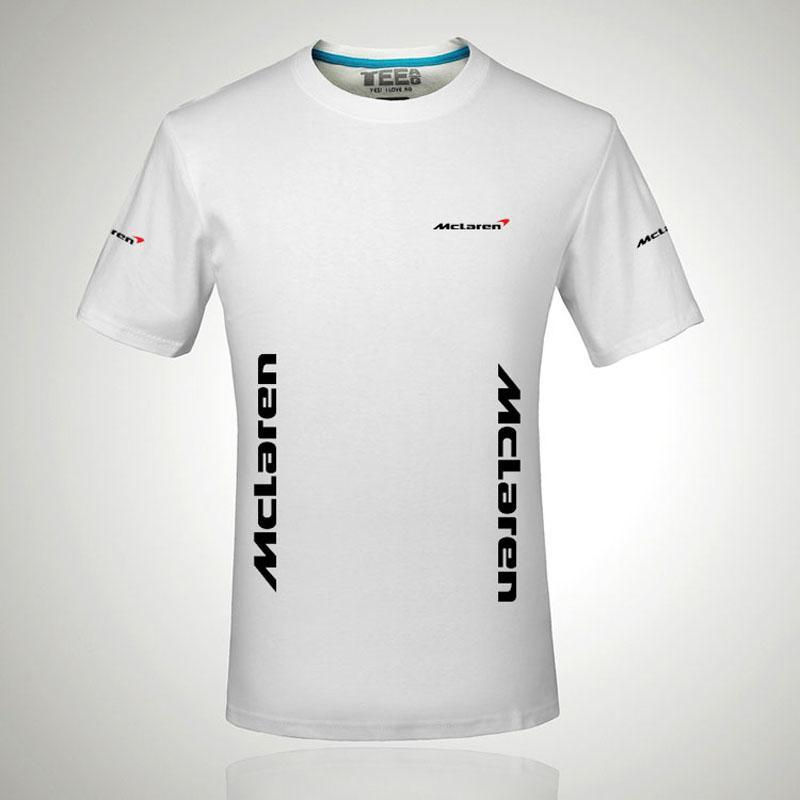 Nouveau mode à manches courtes T-shirt Homme McLaren impression t shirt de O-cou hauts vêtements Tee
