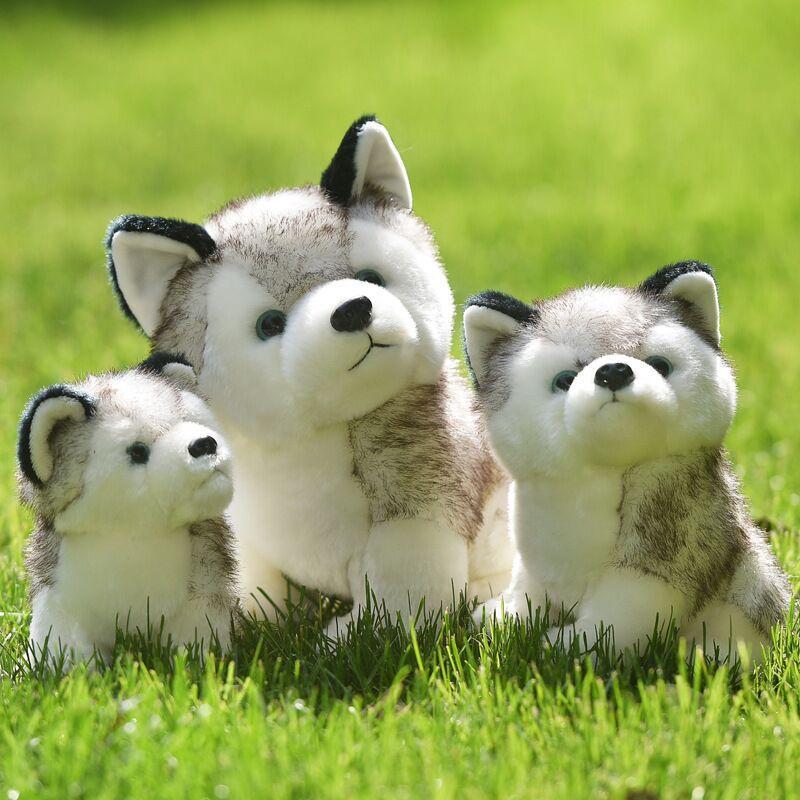 Cartoon Animal Carino Tromba Husky farcito cane peluche Giocattoli per bambini Appease Girl Doll regalo di compleanno