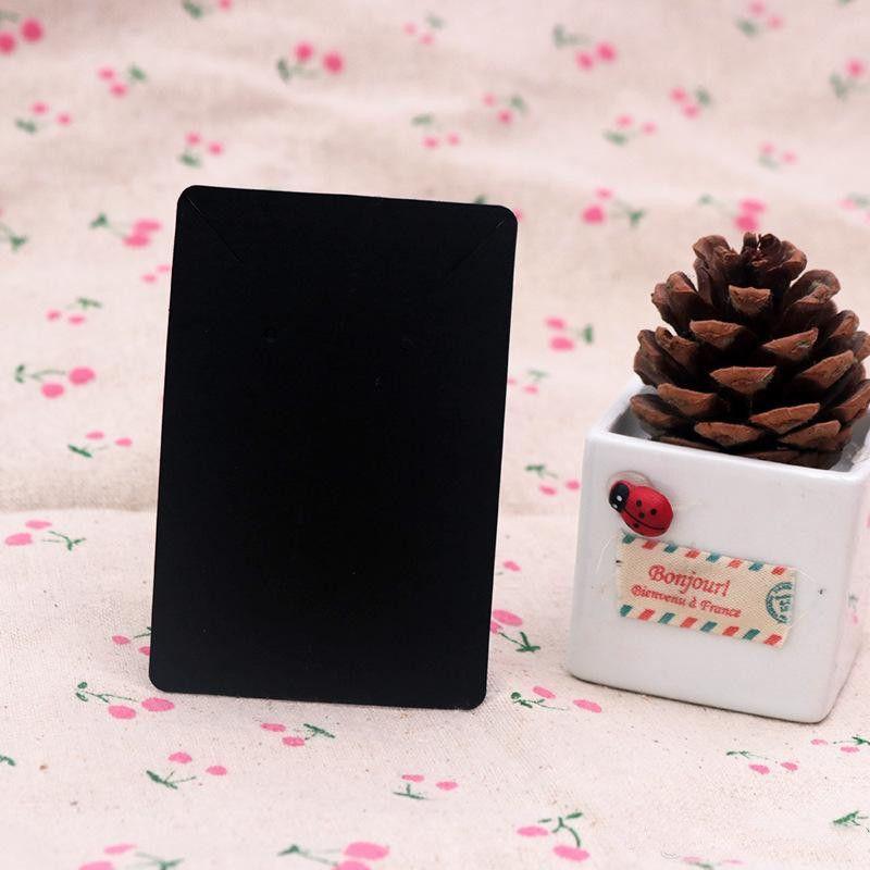 6 * 9cm 100pcs / lot exhibición de la joyería tarjeta Etiqueta de precio pendiente de papel Kraft puede titular Tarjetas Collar Logo ePacket