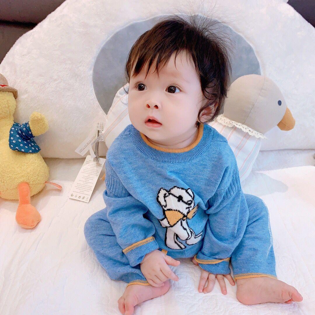 infantis roupas de outono e inverno bebê crianças camisola com meninos calças terno e conjuntos meninas 2pcs