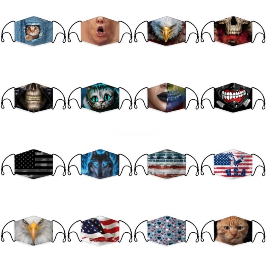 Designer-Gesichtsmaske Mode Kinder Gesicht Kinderblumenmuster Masken Wash Kinderschutzbreathable Face 1 # 180 Maske Maske