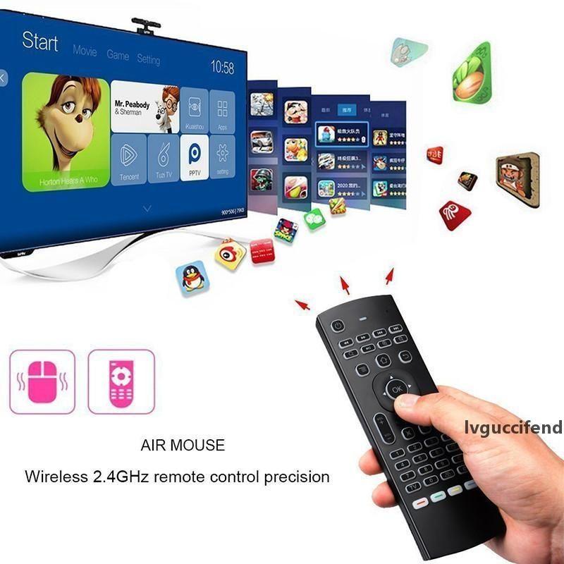 2,4-GHz-MX3 Wireless Keyboard Fly Air Mouse QWERTY GYRO Sensing Remote-IR-Lern Stimme Mikrofon für Android TV-Box