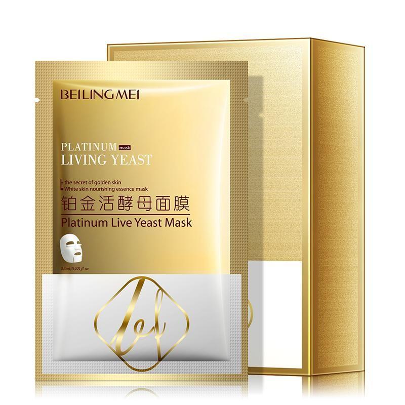 Anti-Aging Black Face Mask Platinum Live Yeast Hyaluronic Moisturizing Hydrating Collagen Masks Skin Care Facial Mascarilla Wholesale