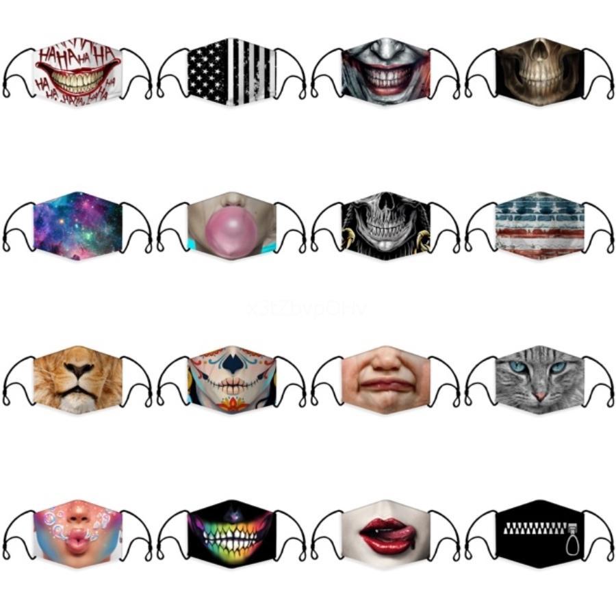 Enfants Masque 3D 5 couches Masques Cartoon PM2,5 Anti Masques poussière enfants Masque de protection anti-poussière 100Pcs MK19 # 172