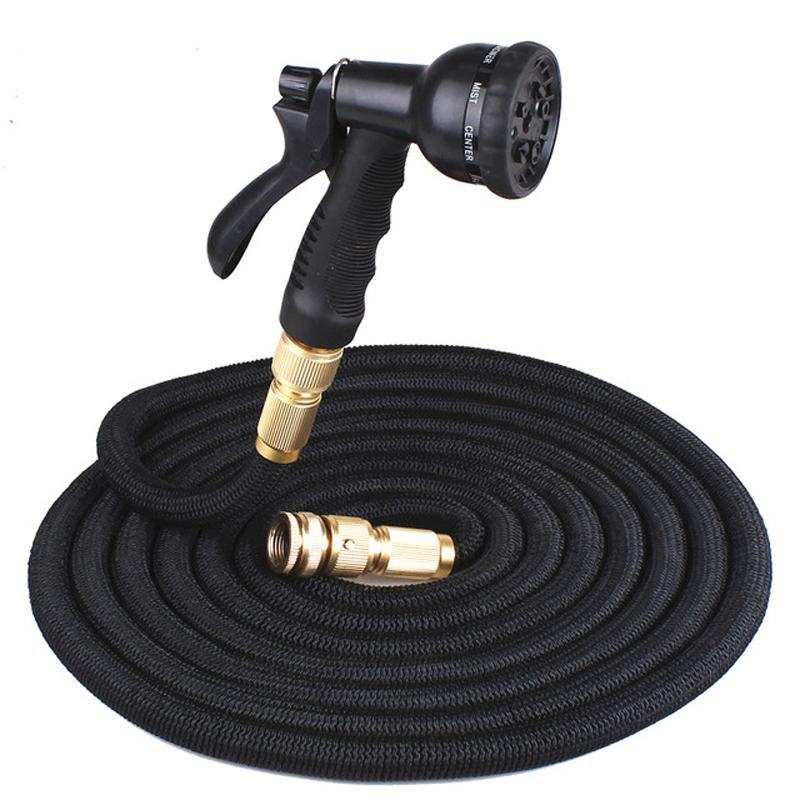 25FT Retractable Hose Natural Latex Expandable Garden Hose Garden Watering Washing Car Fast Connector Water Hose With Water Gun DBC DH0756