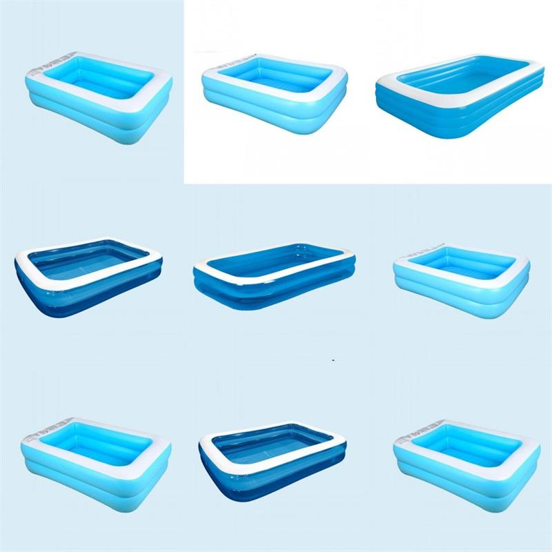 Au-dessus de sol piscine en plein air Piscine Swim GONFLÉ Adultes gonflable étang Enfants Accessoires Portable Cour famille des ménages 145jl C2