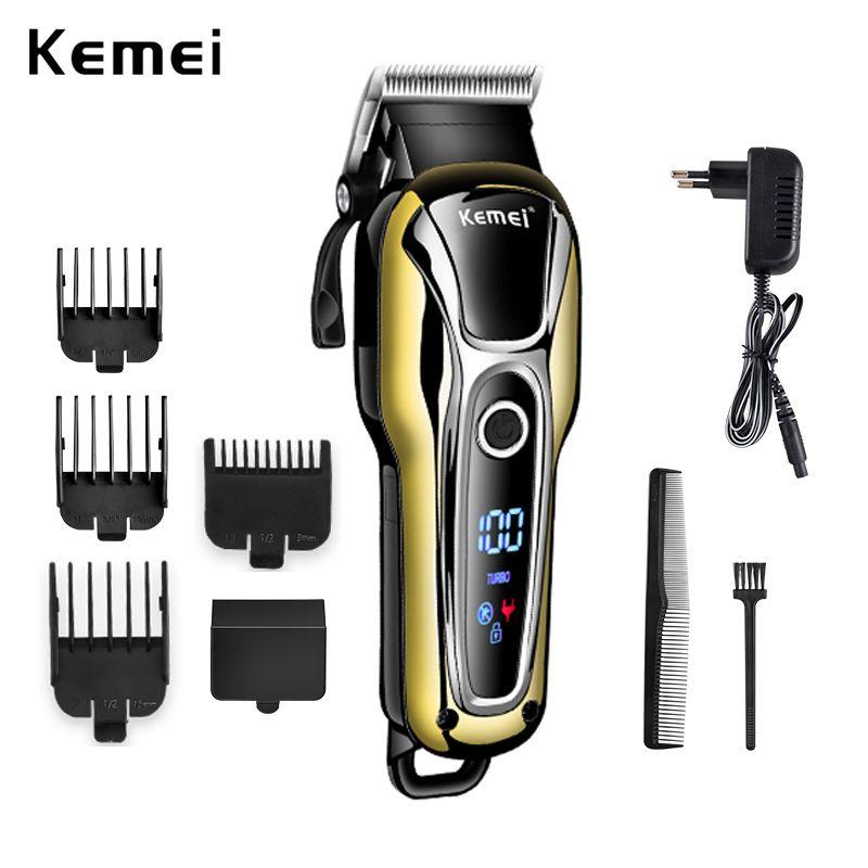 Profesyonel kıllar sakal elektrikli tıraş makinesi saç kesme makinesi tıraş tüyleri clipper düzeltici 100-240 kemei şarj edilebilir saç