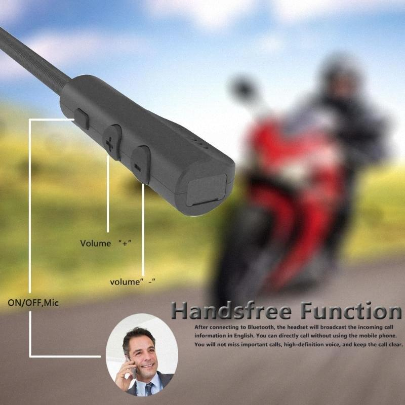 MH04 Bluetooth 5.0 Motor Sturzhelm-Kopfhörer drahtloser freihändiger Stereokopfhörer-Motorrad-Sturzhelm-Kopfhörer MP3-Lautsprecher 8Xw7 #