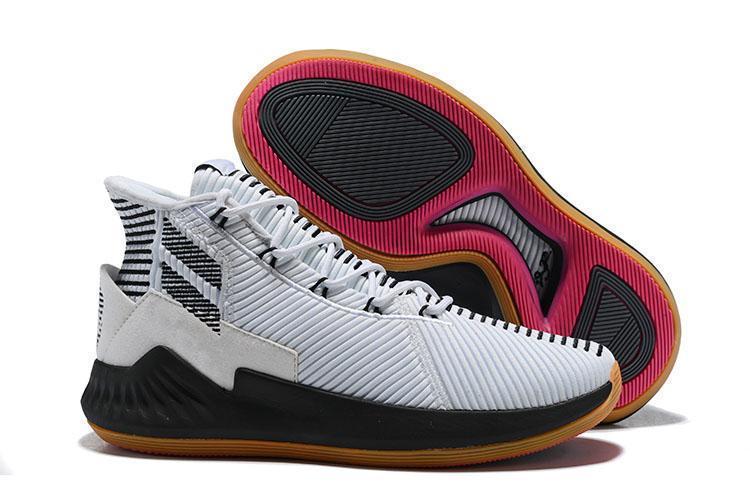Nuovo D 9 oro bianco di pallacanestro del Mens dei pattini della piattaforma Triple epoca uomini superiori di Derrick Rose 9s Sneakers Sport Designer Scarpa 40-46