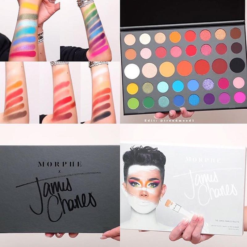 2020 العلامة التجارية مورفس جيمس تشارلز لوحة عينيه ماكياج 39 ألوان عينيه الفنان الداخلي عينيه بالون جودة عالية شحن مجاني