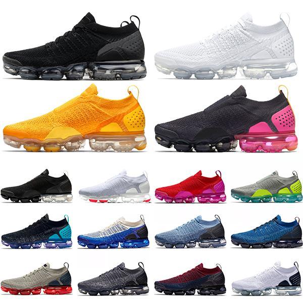 Nike Air Vapormax 2.0 Sapatos de Basquete Vermelho Toro Camurça Amarelo Laranja Azul Real Fresco Cinza OG Mens Esporte Trainer Athletic Sneakers 8-13 Frete Grátis