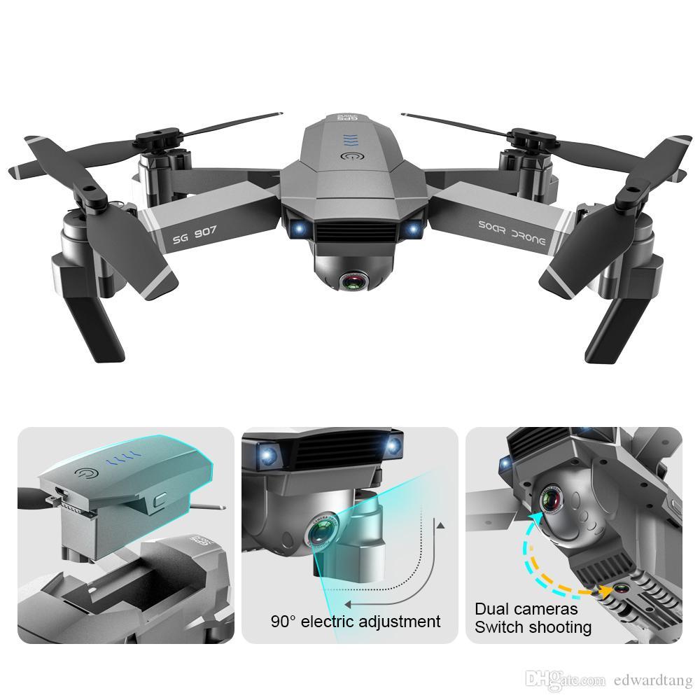 SG907 4K HD Elektrische 90 ° Adjustment Kamera 5G WIFI FPV Drone, GPS-Optical-Flow Doppel Platzieren, Intelligent Folgen, Loss Prevention, USEU
