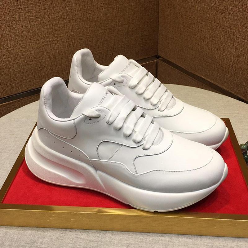 Новые 2020 Мужская обувь Мода Крупногабаритные Runner кроссовки с оригинальным Box Толстая подошва кожа Мужская обувь большого размера Zapatos De Hombre Unisex Обувь