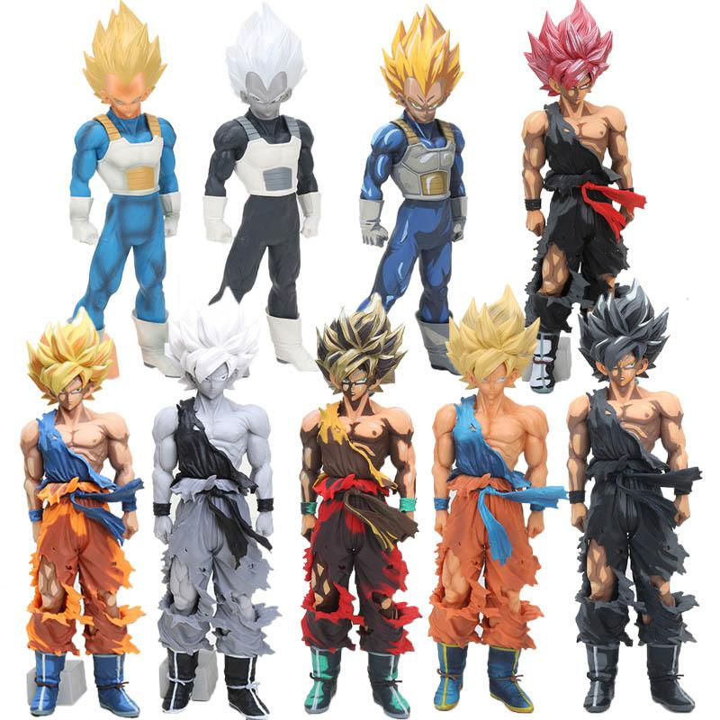 31-34cm MSP Manga Dimensions Vegeta Son Goku PVC Action Figure Dragon Ball Z Master Stars Piece Super Saiyan Goku Model Dolls Y200723
