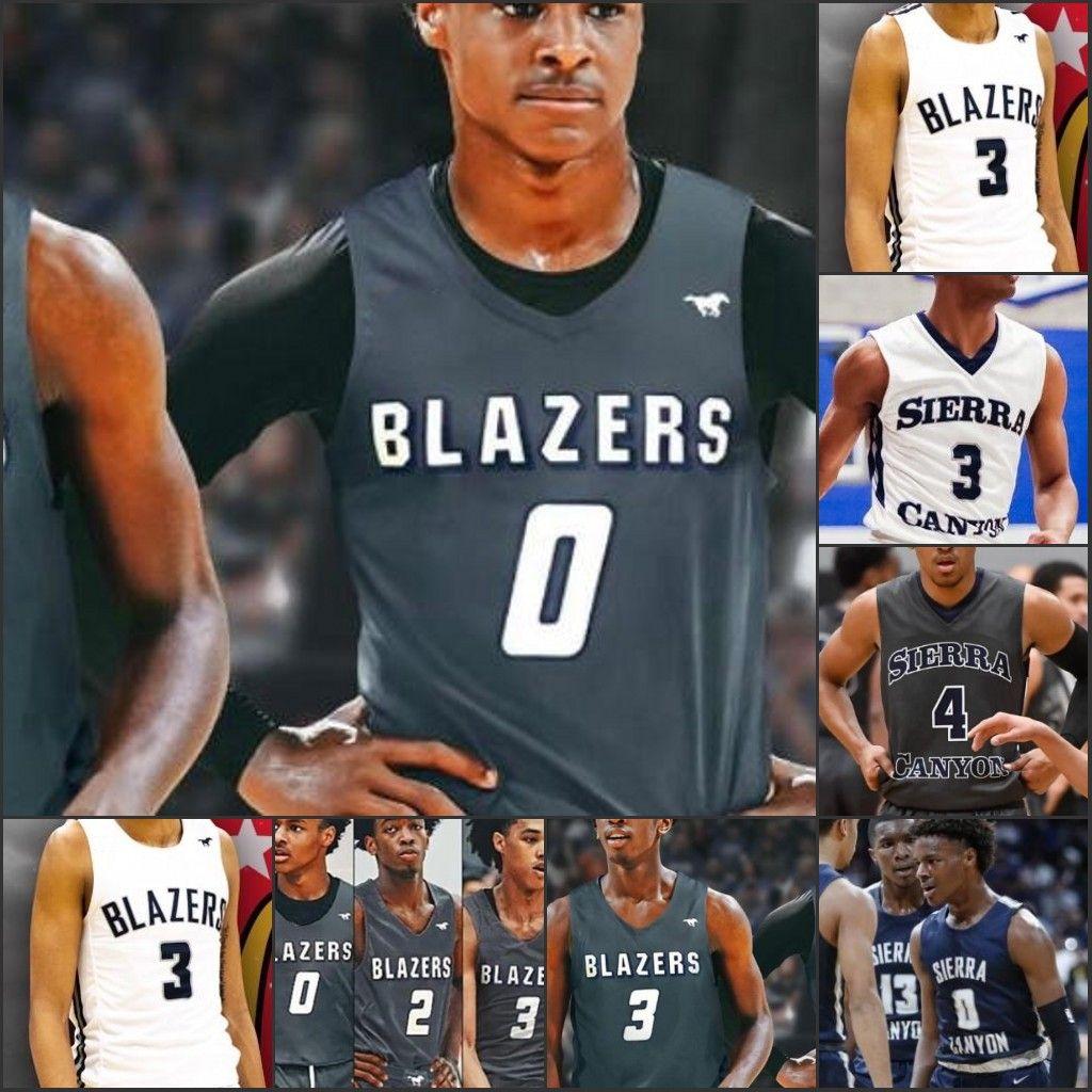 NCAA Benutzerdefinierte Sierra Canyon Basketball Jersey High School Jeder Name Nummer Schüchterner Odom Dylan Metoyer Robert Thibiant Weiß