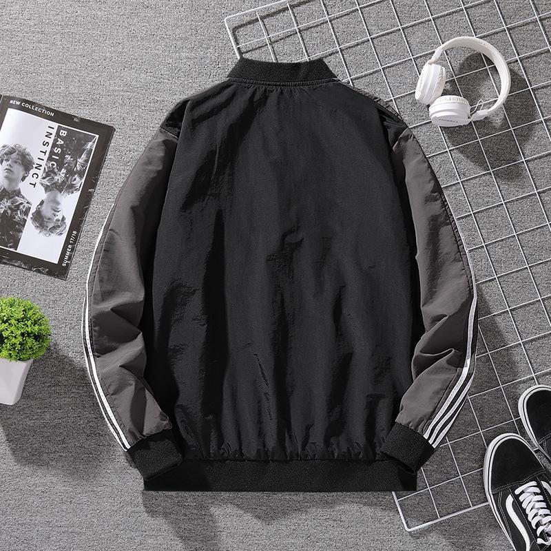 Männer klassische dreibarrigen Baseball Hülse Clip Baseball Kragen Sport Strickjacke langärmelige Jacke 2020 Herbst neue lässige Jacke