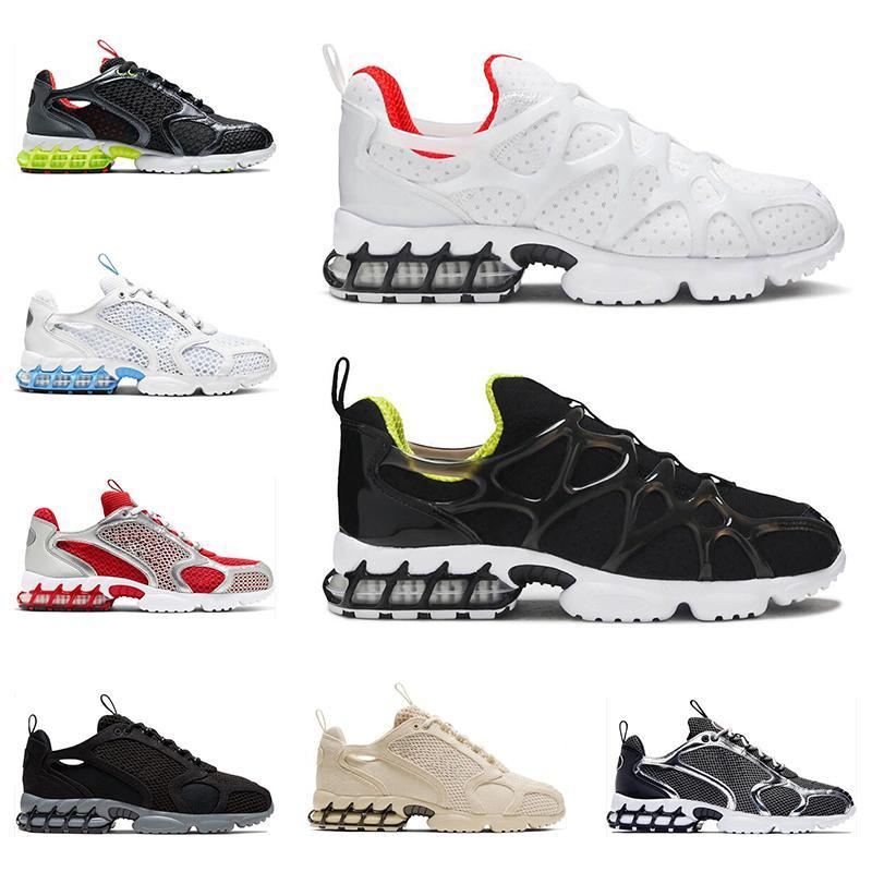 Nike Stussy Air Zoom Spiridon Kukini Cage 2 2020 الرجال النساء الاحذية الأسود الثلاثي الأبيض النقي البلاتين المسار جامعة الأحمر الأزرق المدربين الرجال حذاء رياضة الموضة
