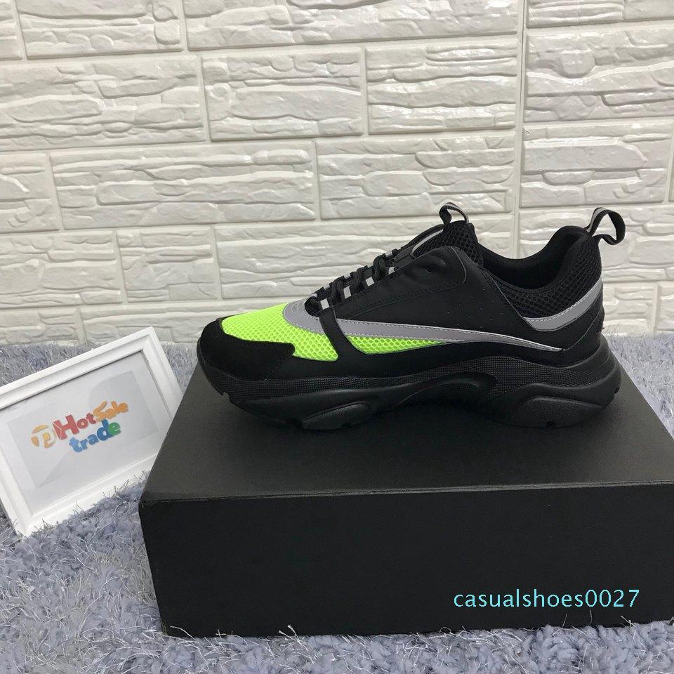 2019 Yeni Tasarımcı Kadınlar Erkekler Günlük Ayakkabılar koyu gri Klasik B22 Yüksek dereceli Lüks Boş Ayakkabı Düşük Kesim Dantel-up Ayakkabı C27