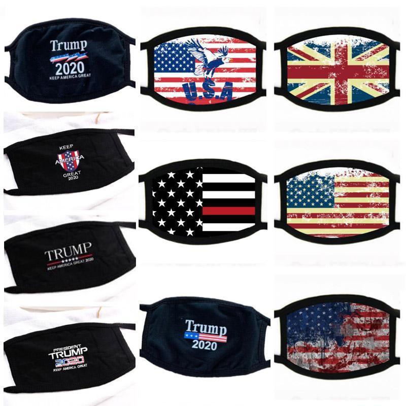 10 estilos 2020 Donald Trump nueva cara Boca máscara máscaras divertido anti-polvo de algodón Máscara EE.UU. Mujer Hombres Moda Unisex lavable Ciclismo