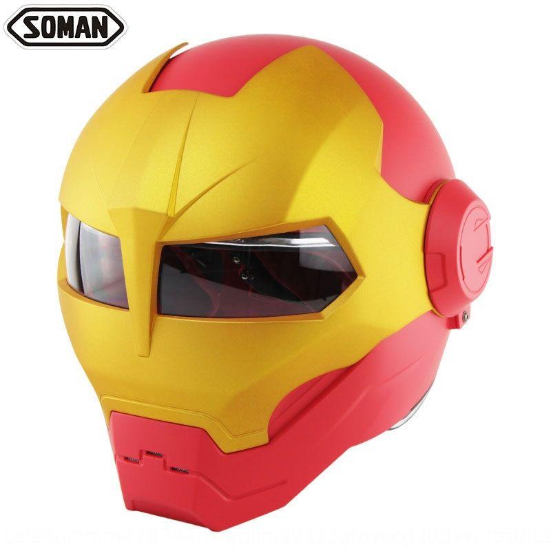 UPLMd personalizado soman515 Iron Man completa Harley Face-abertura de moto personalizado soman515 Homem de Ferro Transformadores completos capacete da motocicleta