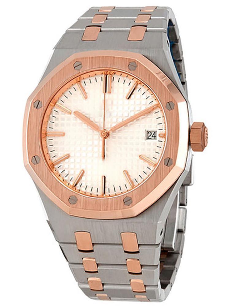 All'ingrosso di alta qualità reale orologio quercia dimensione automatica orologi 42 millimetri in oro rosa fibbia originale orologi da polso in acciaio inossidabile