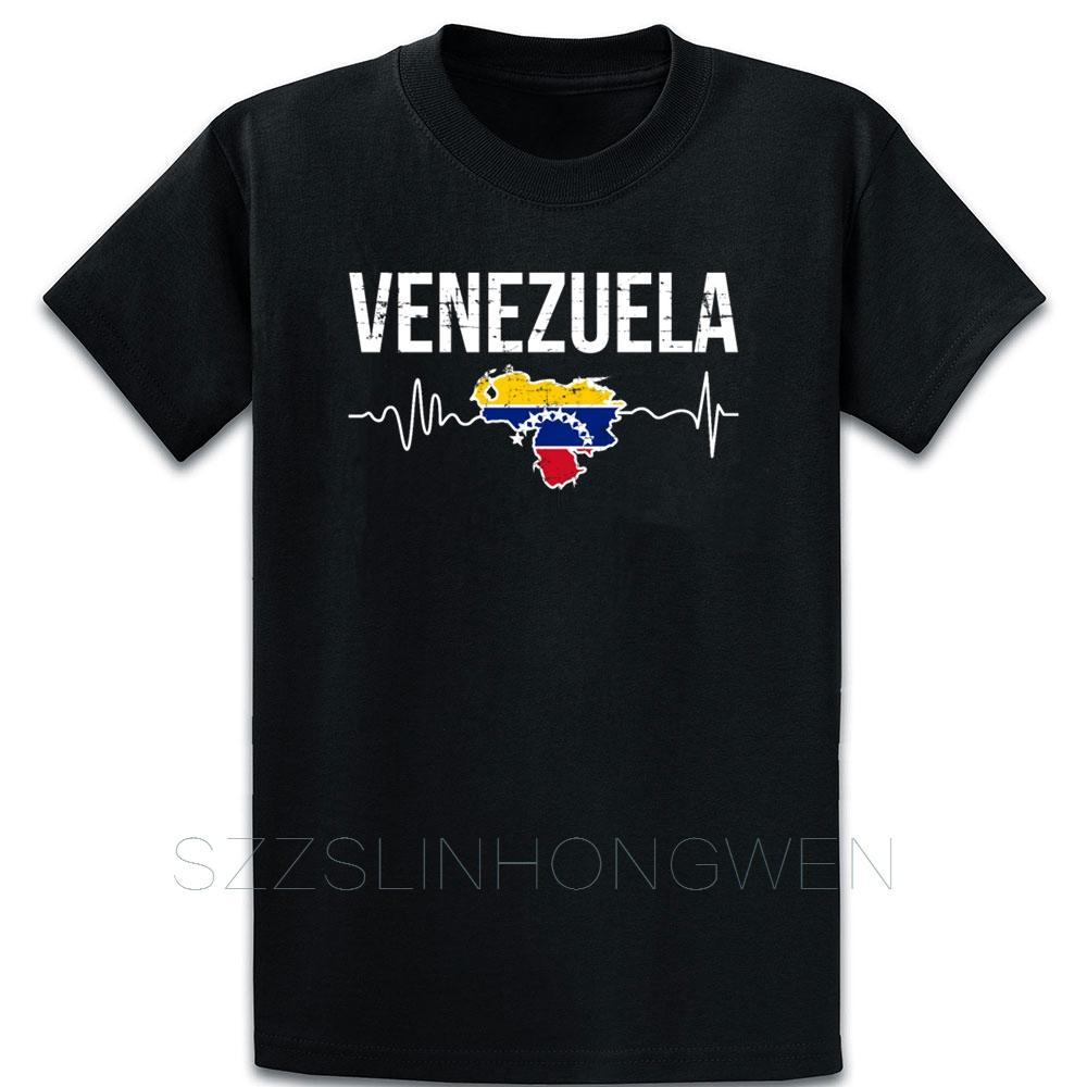 Im Americano Mi latidos por Venezuela camiseta Camiseta de cuello redondo de construcción personalizada de fitness verano se refresca la camisa masculina