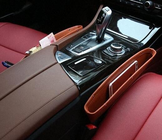 Хранение автомобиля сумка Box Кожа Авто Автокресло Gap Карманный Catcher Организатор Герметичный ящик для хранения v4VB #