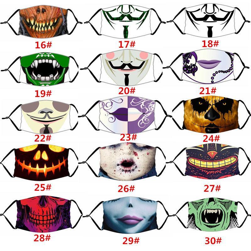 Designer Gesichtsmaske Art und Weise Baumwolle drollig wiederverwendbare Gesichtsmaske Schädel Flagge digital Sport Gesichtsmasken mit Filter LJJA1302
