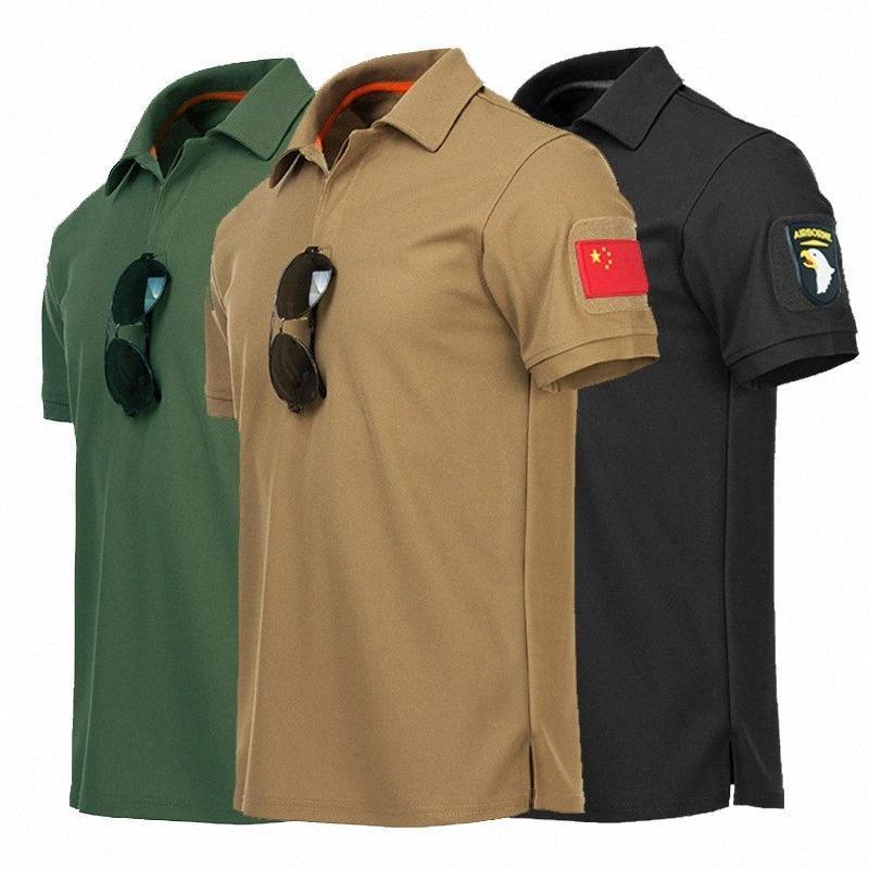 Para hombre Camisa táctica de caza que va de excursión deportes al aire libre con cuello en V O-Cuello de gran tamaño sueltos Ejército de Estados Unidos camisetas de manga corta camisas gSn7 #