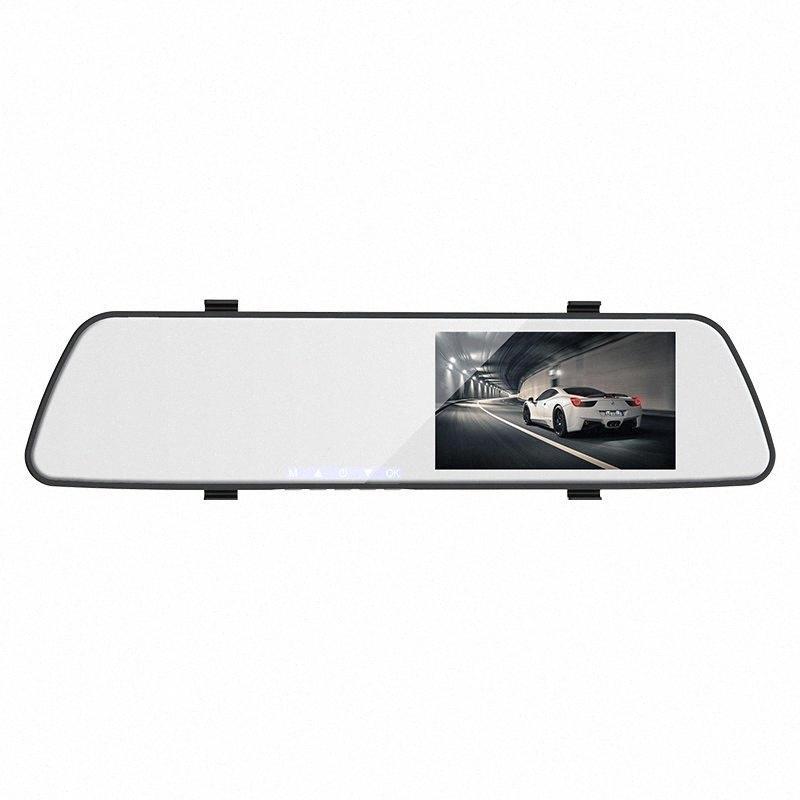 1080P dash specchietto retrovisore della macchina fotografica dell'automobile del registratore scatola nera con telecamera posteriore 480P TOIK #