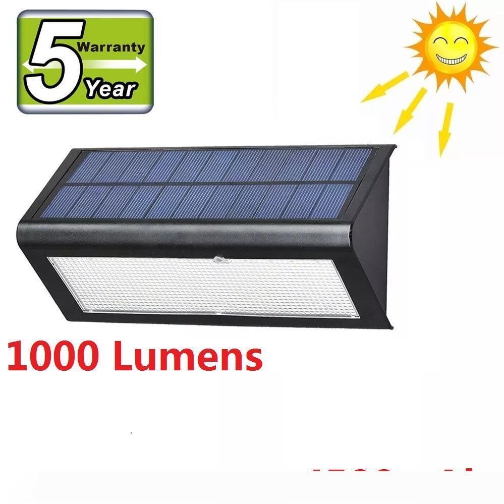 Super Bright 1000 lumen del radar del sensore luce alimentata solare della parete del LED Luce esterna della lampada della lampada del giardino impermeabile IP65 + 5 anni di garanzia
