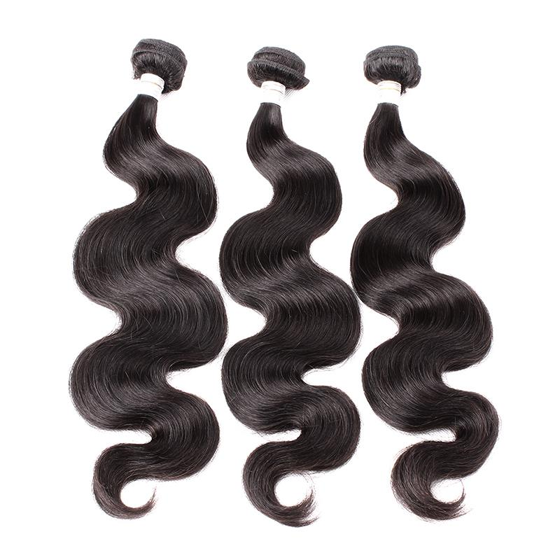 Greatremy Peruvian Hair 3 Bundles Virgin Human Hair Weave Wavy Body Wave Hair Weft Extension Natural Color Free Shipping