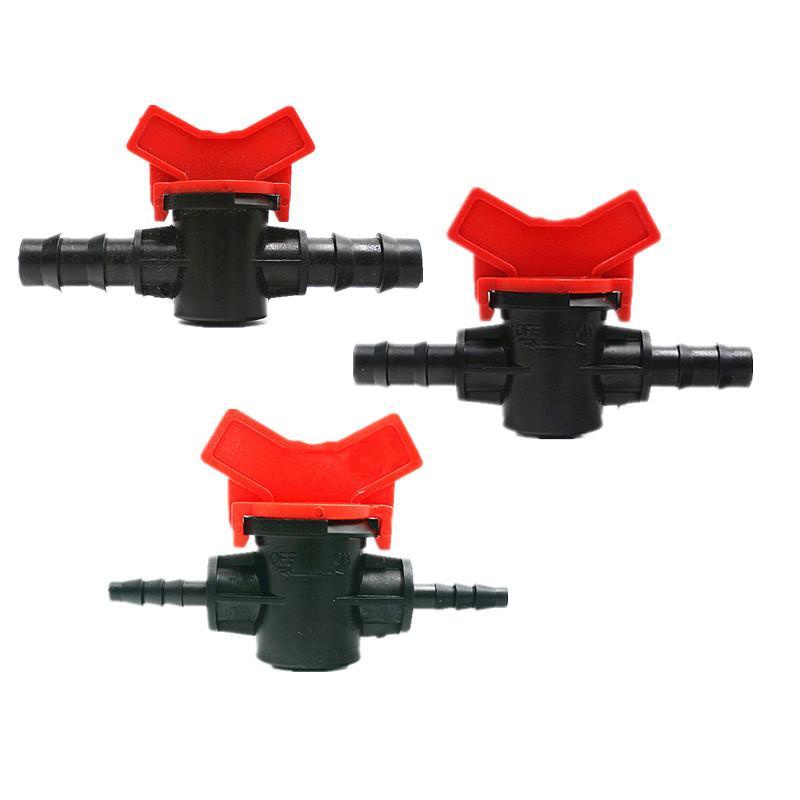 20PCS Mini-Valve 16MM Barb x 16MM Hose Valve Water Garden Tap Hose Connector Sprinkle Drip Irrigation Fittings