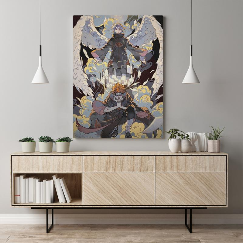 Canvas Modular Naruto Poster Home Decoration Paintings HD Printed Animation Character Pictures Frame Wall Artwork Living Room