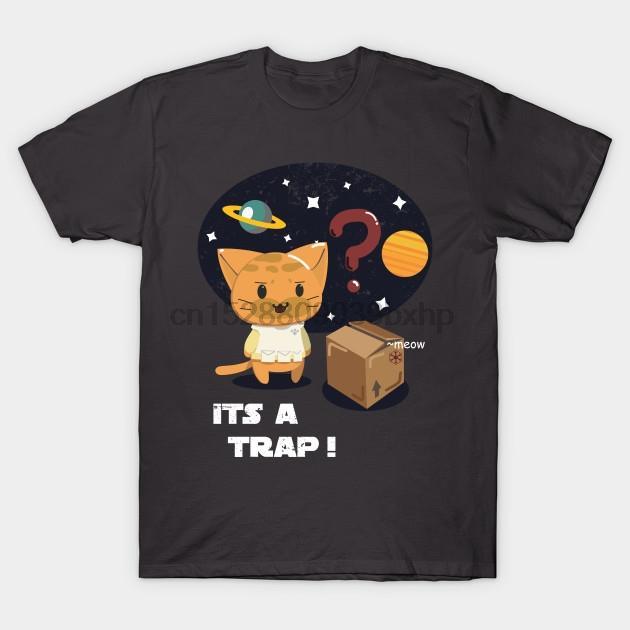 Hombres camiseta de Trampa Trampa del gato camiseta de las mujeres t-shirt camiseta top