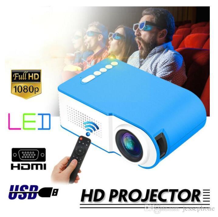 7000 люмен 1080P LED портативный мини-проектор Full HD 3D проектор TFT LCD Домашний кинотеатр Проекторы Видео Мультимедиа- Dropship 1шт