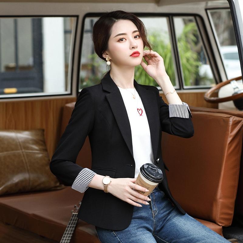 FAblp Stil Frühling und Herbst neuer vielseitig kleine Mode kleine Frauen 2020 Normallack-Mantel-Mantel koreanischer Anzug Frauen Casual Anzug