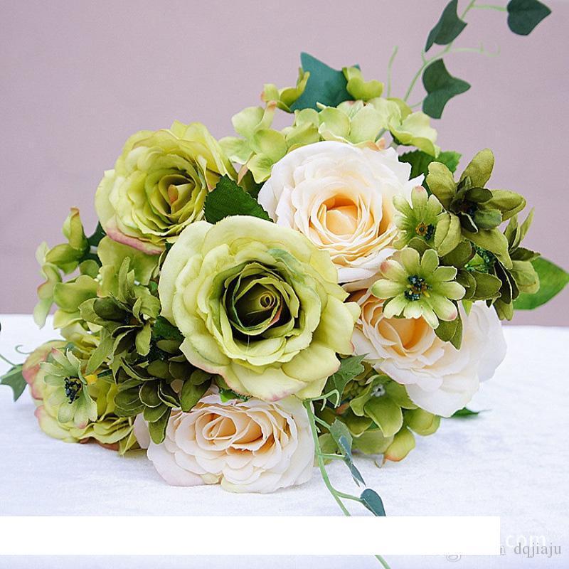 Düğün Centerpieces Ev Partisi Dekoratif Çiçek Ücretsiz Nakliye Yapay Ortanca Çiçek Sahte İpek Tek Hydrangeas Çok Renkler