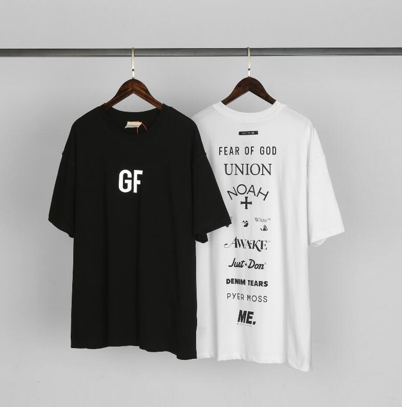 Mode Furcht vor Gott T Shirts Hip Hop George Floyd 3M Reflexion gemeinsam unterzeichnet für 9 Sommer-T-Shirts 6660