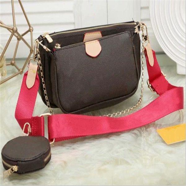 XX de sac bandoulière épaule fleur en cuir sac à main femmes préférées classique dames sacs à main 3 pièces porte-monnaie