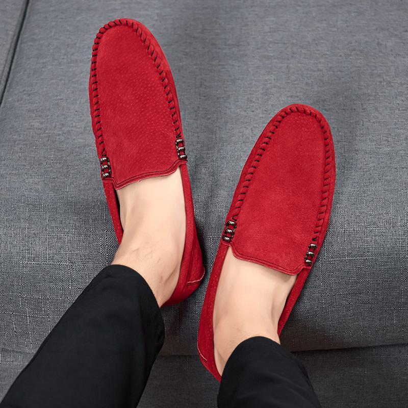 EMOSEWA degli uomini nuovissimi qualità casuale scarpe di cuoio morbido fannulloni Uomini Mocassini Scarpe Slip-on Leggero guida Flats