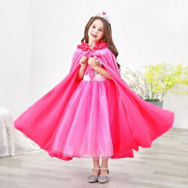 Girls Solid Outwear Shawl Winter Coat Ladies Scarf Kid Warm Hooded Coat Princess Cloak Cape Bufandas Invierno Mujer#D17 FPIB#