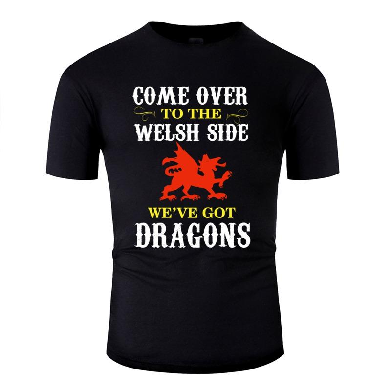 Personnaliser Dragon de Gallois Designs T-shirt pour les lettres Hommes T-shirts Classique Femme Camisetas Top drôle Qualité