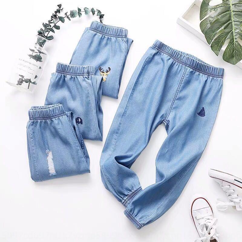 denim BFw2w Boys' lunga Anti Mosquito pantaloni che coprono i pantaloni a prova di zanzara ankl sottile estate dei bambini bambino usura di estate abbigliamento per bambini