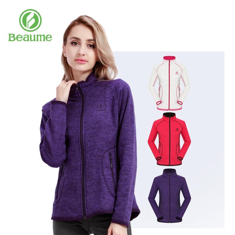 Флис куртка Beaume Открытый Спорт Термальный Пешеходные длинным рукавом шинели женщин для зимы 63318