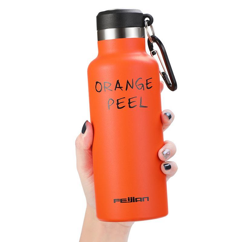 Нержавеющая сталь Спорт бутылки 350мл 500мл Vacuum Insulated Bottle двойными стенками Сохраняет напитки Холодный Путешествия Coffe Спорт бутылки OEM